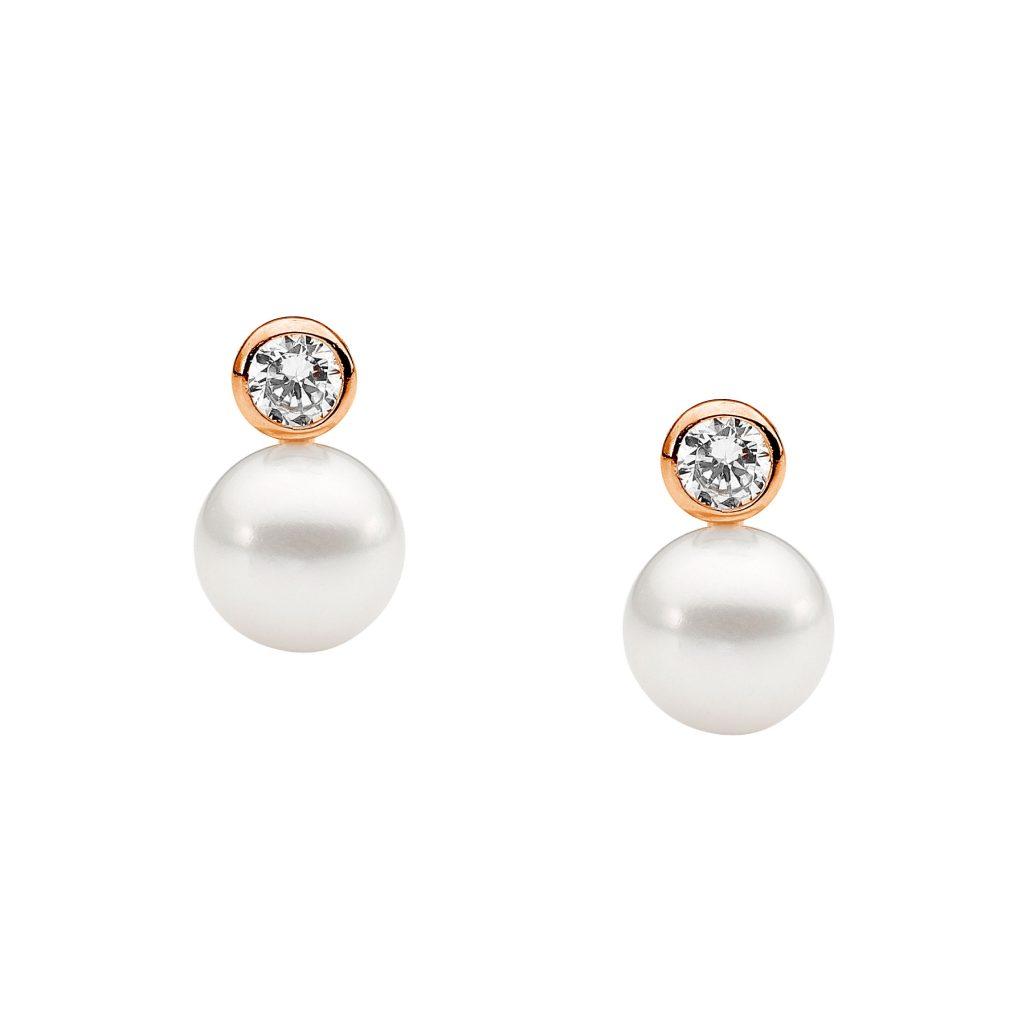 Ellani Freshwater Pearl Silver/Rose Earring