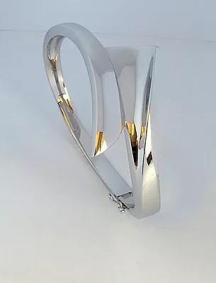 Breuning Silver Hinged Bangle