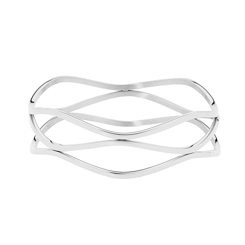 Ellani Stainless Steel Bangle Bracelet