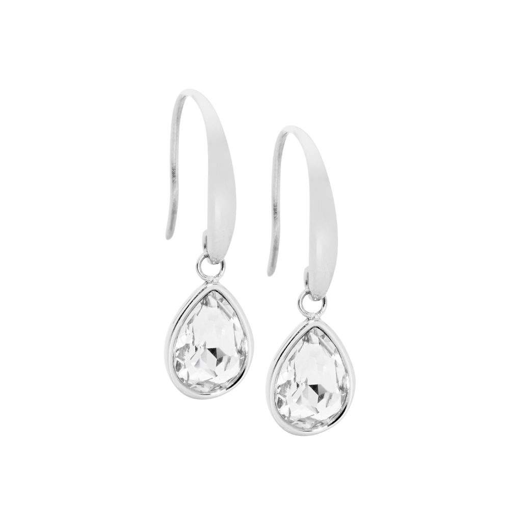 Ellani Sparkling CZ Stainless Steel Earring