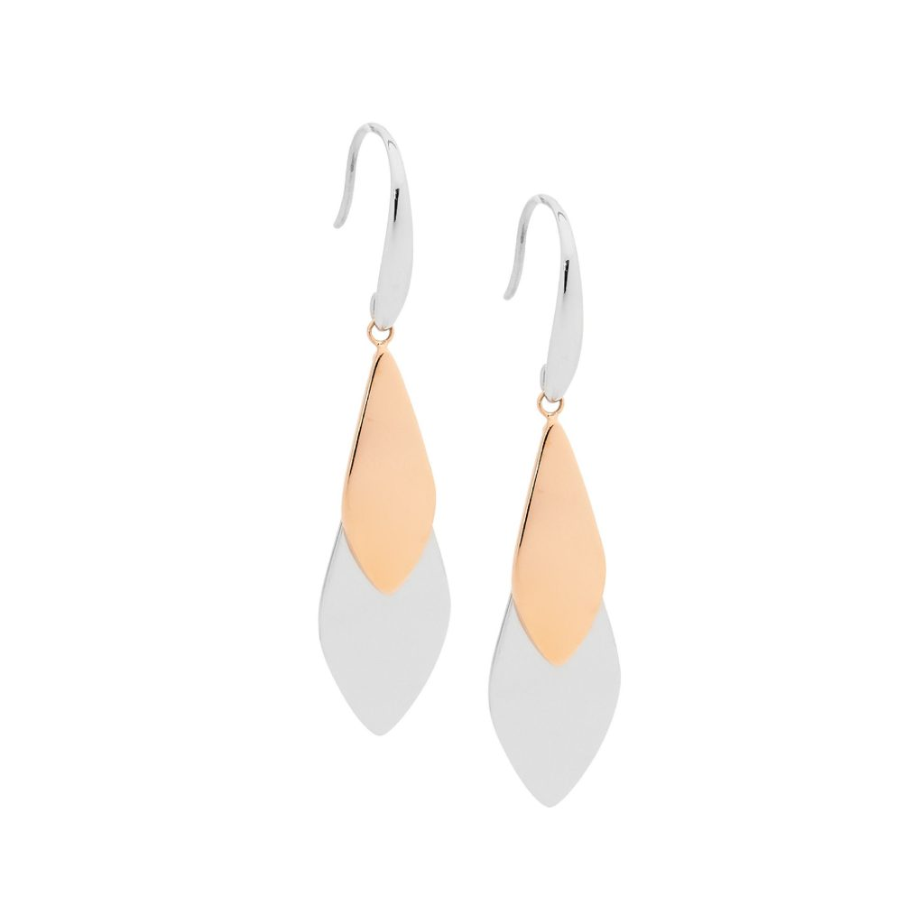 Ellani Stainless Steel IP-Rose Earring