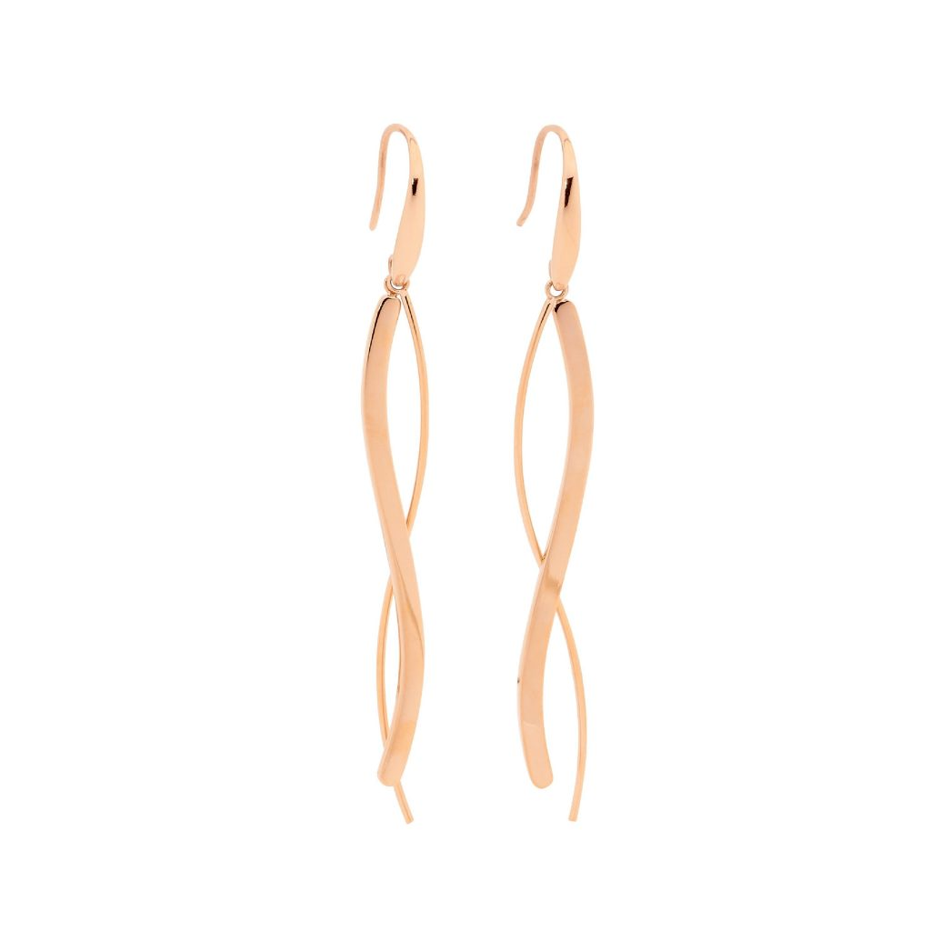 Ellani Stainless Steel IP-Rose Earring