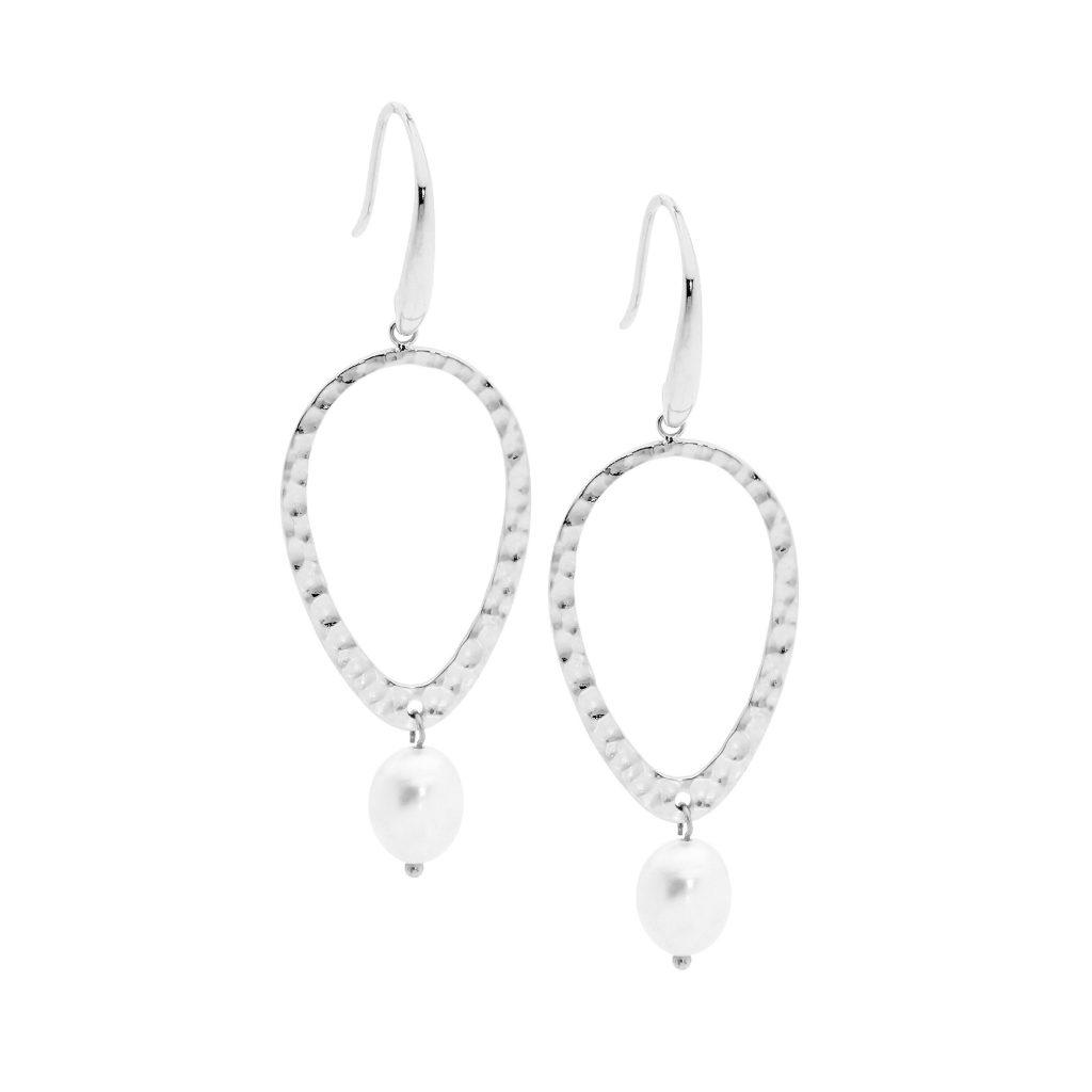 Ellani Freshwater Pearl Stainless Steel Earring