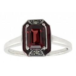 AMI Sterling Silver Modern Art Deco Ring